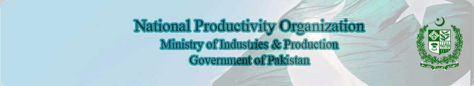NPO Vision:  Productive and Competitive Pakistan