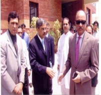 Cheif NPO With Mr. Hasan Haider,  DGM NPO and Mr. Shahab Khwaja, Secretary Ministry of Industries and Production